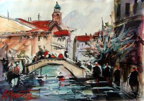 Venice in Watercolour by ricardomassucatto