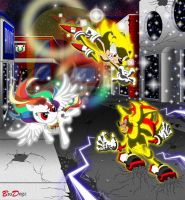 Comm: Sonic Shadow and Rainbow Dash - Shockwaves by BroDogz