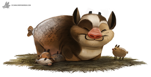 Day 841# Wild Haggis by Cryptid-Creations