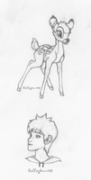 Jack Frost and Bambi study by BillieJean485