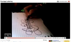 Youtube Courage Lettering by 12KathyLees12