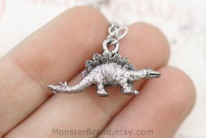Stegosaurus Necklace by MonsterBrandCrafts