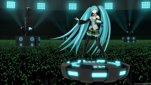 Hatsune Miku Stadium Show by aVersionOfReality