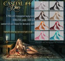 casual #4 HAIR STOCK by Trisste-stocks