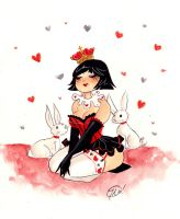 Queen of Hearts Commission by TracyLeeQuinn