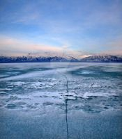 Utah Lake Ice Crack Saratoga S by houstonryan