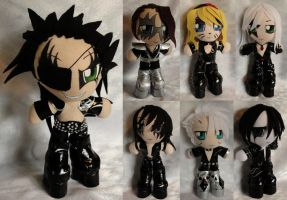 Birthday Mini Plushies, Bleach Rockers by ThePlushieLady