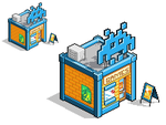Isometric building pixel art - Video Game Shop by Fox-Demon-Kasumi