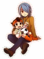 Ina11:24 Kazemaru and kid Endo by sagenac