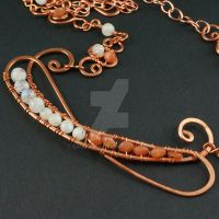 Copper and Moonstone Necklace by sylva