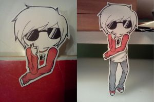 Bookmark Cutout 6 - Dave Strider by donutpolice