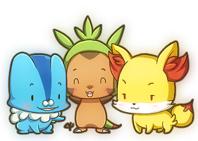Tiny Kalos Starters by KevKeaf