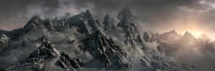 Skyrim Mountains by Minnan2