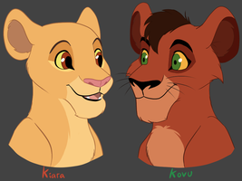 Kiara and Kovu by MalisTLK