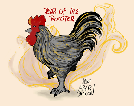 Chinese New Year 2017 Rooster by copperdragons