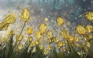 Golden tulips by Sincemilia14