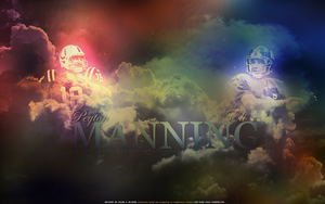 Eli and Peyton Manning by Akjeter