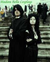 Snape and Bellatrix by MasterCyclonis1