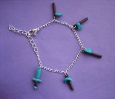 Minecraft Diamond Tool Polymer Clay Bracelet by ClayMyDay
