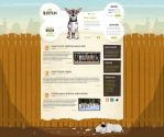 "En-kutyam ""My dog"" site design by floydworx"