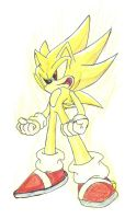 Super Sonic powering up by Sweecrue