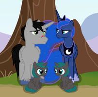 Slipstream and Luna family picture by sakatagintoki117