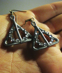 Deathly Hallows Earrings - With Rhinestones! by Totally-Tomboy