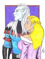Lotor and Allura Colors by MichaelPowellArt