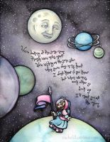 Commish - Meet You at the Moon by rachelillustrates