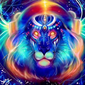 Electric Lion. by Sukesha-Ray