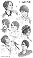 Tegan and Sara Sketchdump 4. by hobbittiponi