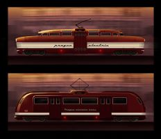 Retrofuture streetcars by sketchboook