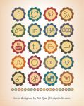 Free Retro Social Media Icons 2013 by Designbolts