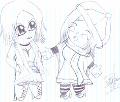 Sketch - SS - Nana and Hachi by DaisychanOrange
