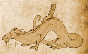 The Fox and the Dragon by Skia
