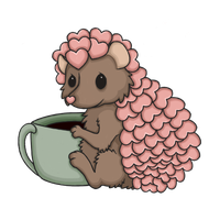 Perk the Coffee Loving Hedgie by RainComa