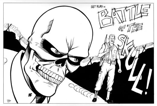 Nick Fury -Battle of the Skull by TroyHoover