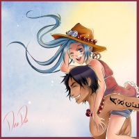 One Piece Pairing - Vivi x Ace by DeaDia89