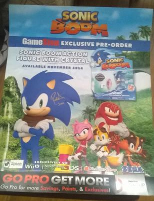 Sonic Boom GameStop Ad Poster with Autographs by FallenAngelCam7
