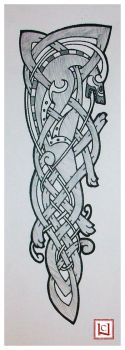celtic wolf tattoo quickie by one-rook
