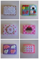 Yummy Snacks Felt Wallets by djonesgirlz