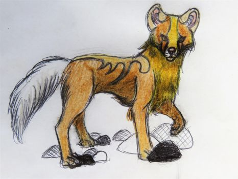 Colored sketch for MiseryOkami by SilviaTheCaralioness