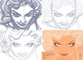Madonna Erotica Process by andersonmahanski
