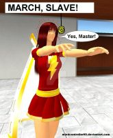 Mary Marvel Hypnotized by The-Mind-Controller