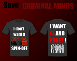 Save Criminal Minds T-Shirt by Lebre25