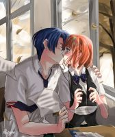 Kiss in Class by Rupyon