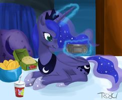 Luna Playing by the88cherryice