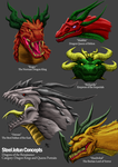 Renaissance Dragon Portraits: Lords and Ladies by a3dkid