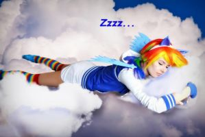 napping in the clouds by IllumAdora