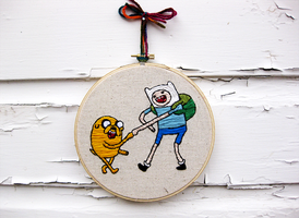 Adventure Time -  Jake and Finn by thelastromantic